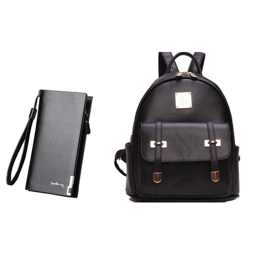 Combo ba lô và ví da thời trang DTCB48