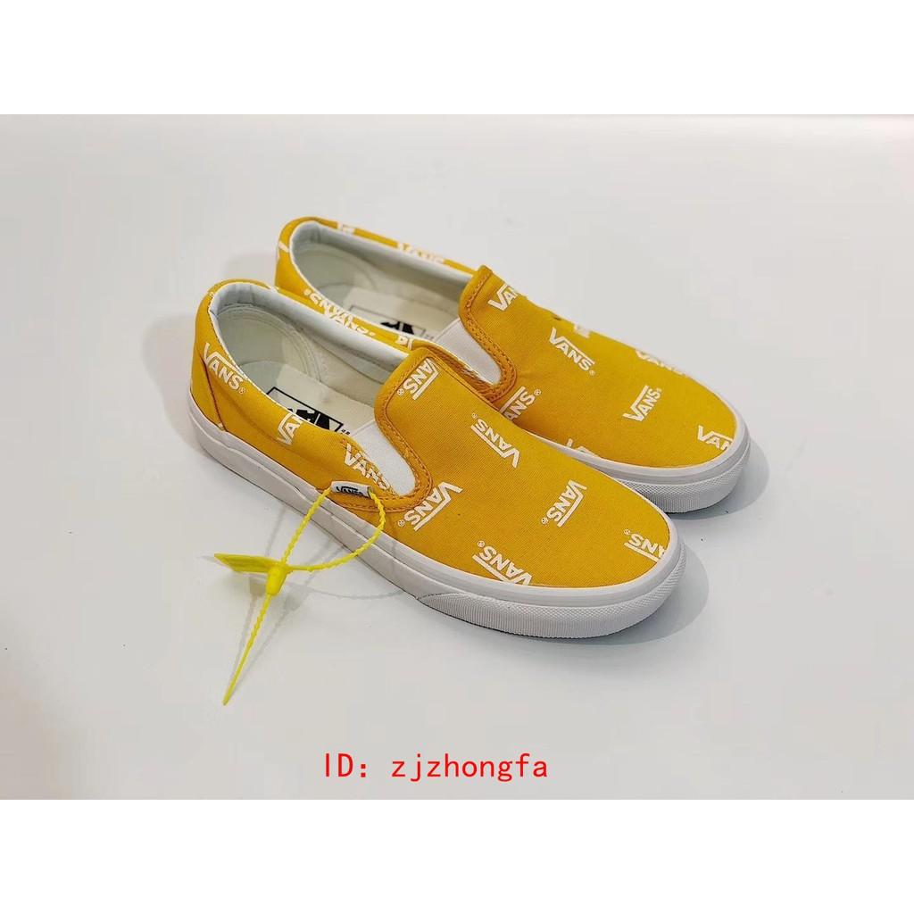 giày lười canvas thêu chữ thời trang năng động