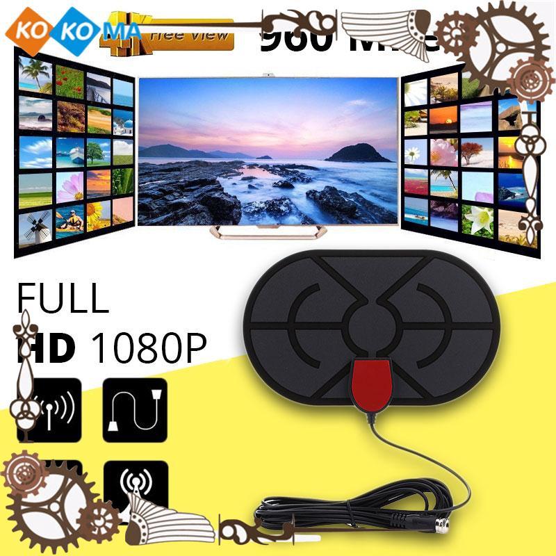 ☆KOK Ultra Thin HD 1080P Indoor HDTV Antenna TV Fox - KOK Ultra