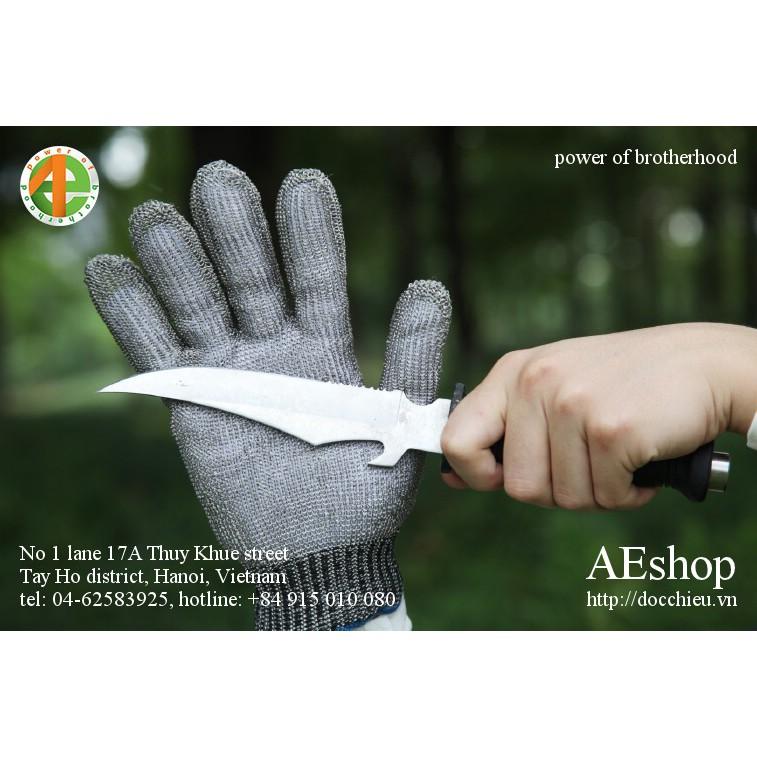 găng tay thép không rỉ găng tay chống dao găng tay mổ lợn