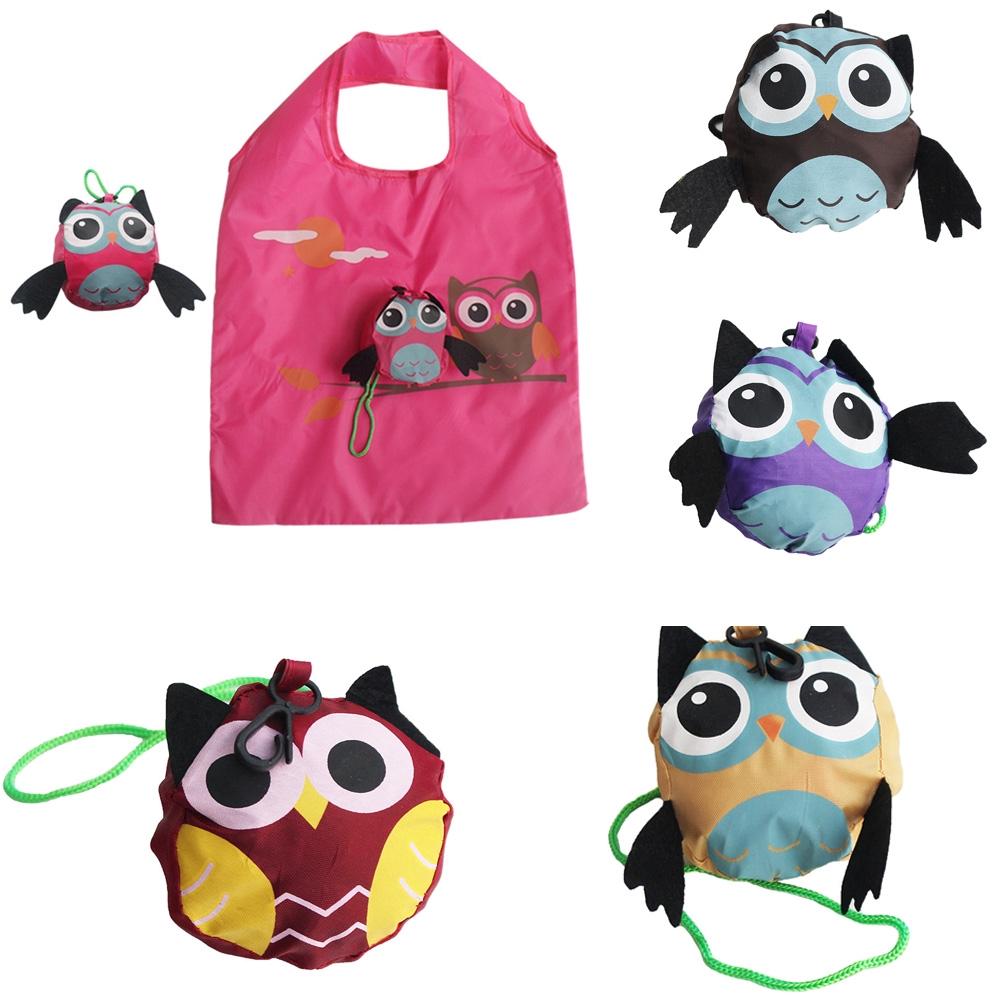 Animal Owl Shape Foldable Shopping Bags