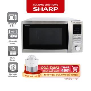 Lò vi sóng Sharp R-C825VN(ST) 25 Lít [Có Chức Năng Nướng, Chất liệu bằng thép khôn