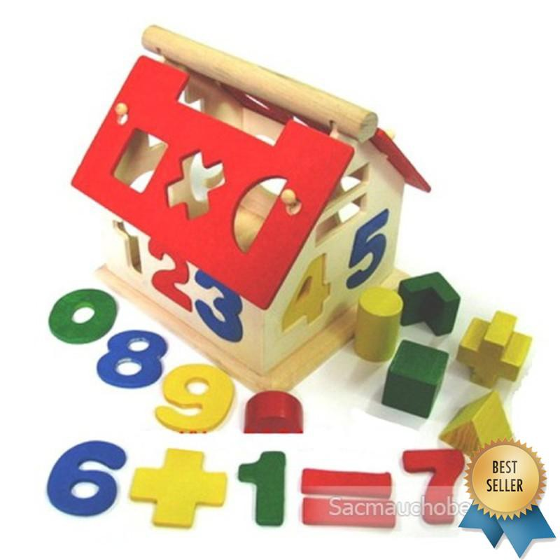 (ẢNH TỰ CHỤP) Nhà thả hình và học số cho bé