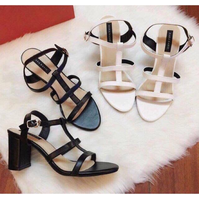 Giày sandal gót vuông quai ngang 5 phân - 10011599 , 276653511 , 322_276653511 , 260000 , Giay-sandal-got-vuong-quai-ngang-5-phan-322_276653511 , shopee.vn , Giày sandal gót vuông quai ngang 5 phân