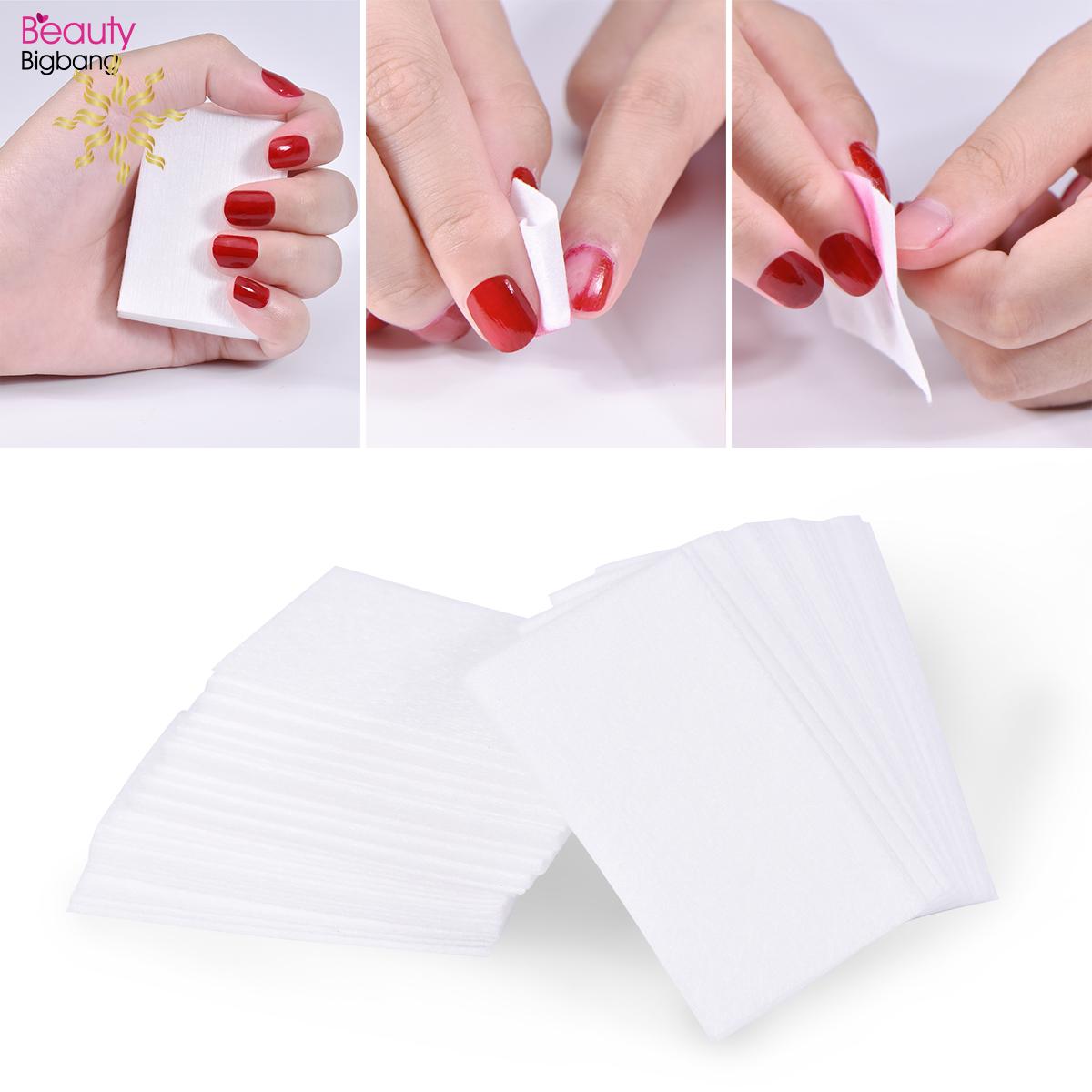 Bộ 100 miếng bông làm từ 100% cotton chuyên dụng chùi sơn móng tay