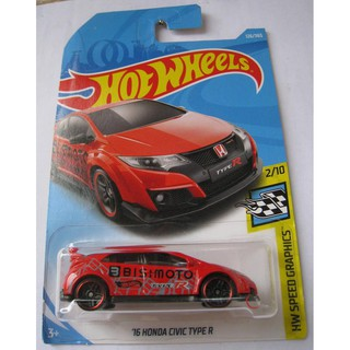 Xe mô hình Hot Wheels '16 Hon.da Civic Type R FJW42