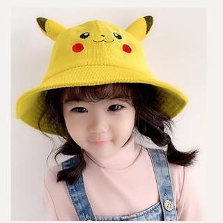 Nón Lưỡi Trai Pikachu, Mũ Tai Bèo Pikachu Dễ Thương Cho Bé Từ 1-2 Tuổi Chất Vải Nhung Mềm Mại