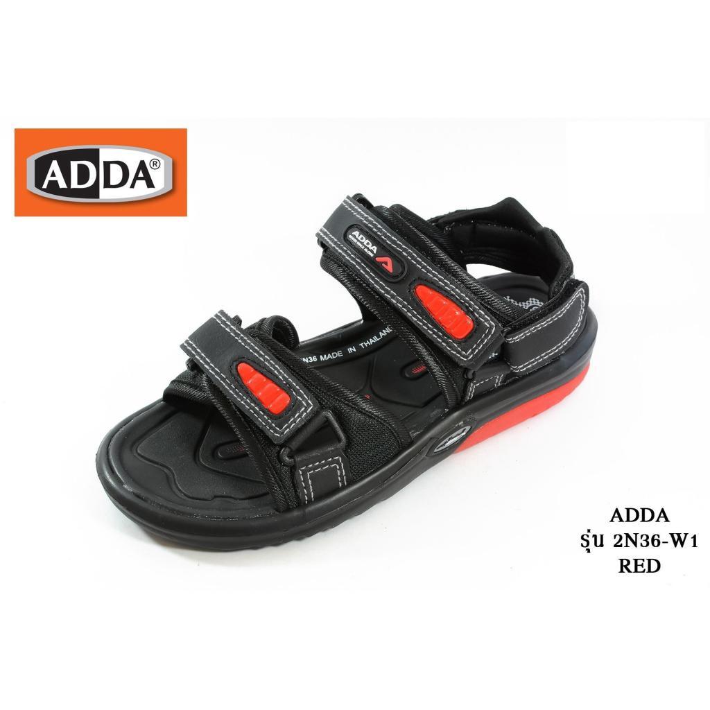 ADDA รองเท้ารัดส้น  รุ่น 2N36-W1 สีดำเเถบแดง เบอร์ 36-46DDA รองเท้ารัดส้น  รุ่น 2N36-W1 สีดำเเถบแดง เบอร์ 36-46