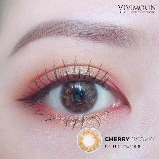 Kính Áp Tròng VIVIMOON Cherry Brown lens cận nâu 14.2mm