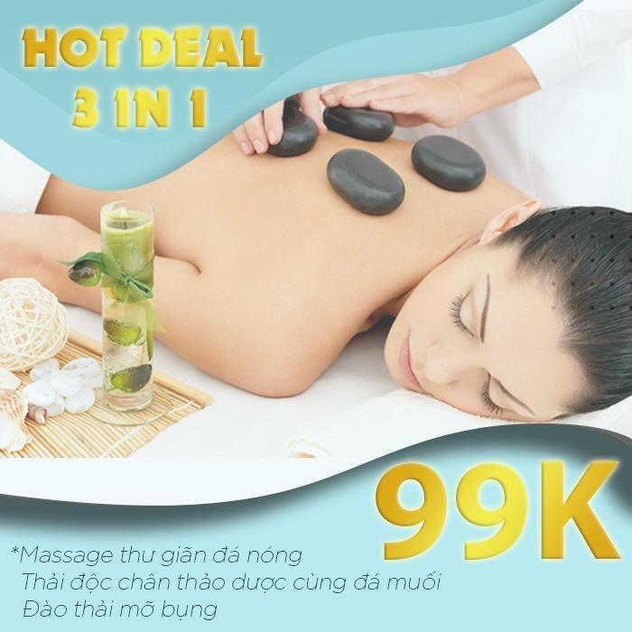 Hồ Chí Minh [E-Voucher] HOT DEAL 3 IN 1 Massage thư giãn Tại Bonita Spa