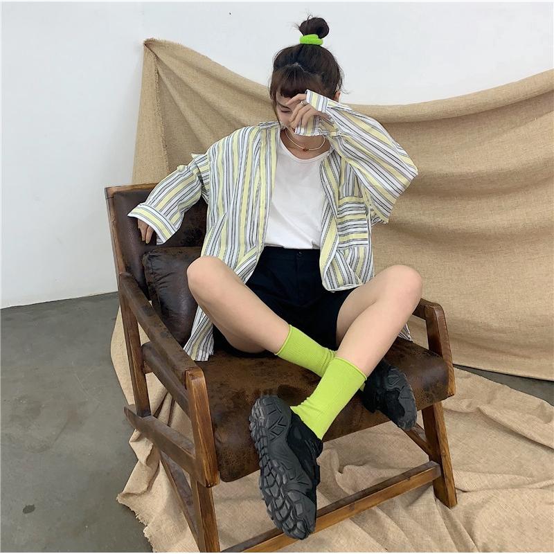 เสื้อสตรี เสื้อเชิ้ตแขนสั้น ที่หุ้มขา เสื้อเชิ้ตแขนยาวสาวอวบ