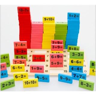Bộ Domino học phép toán 110 chi tiết