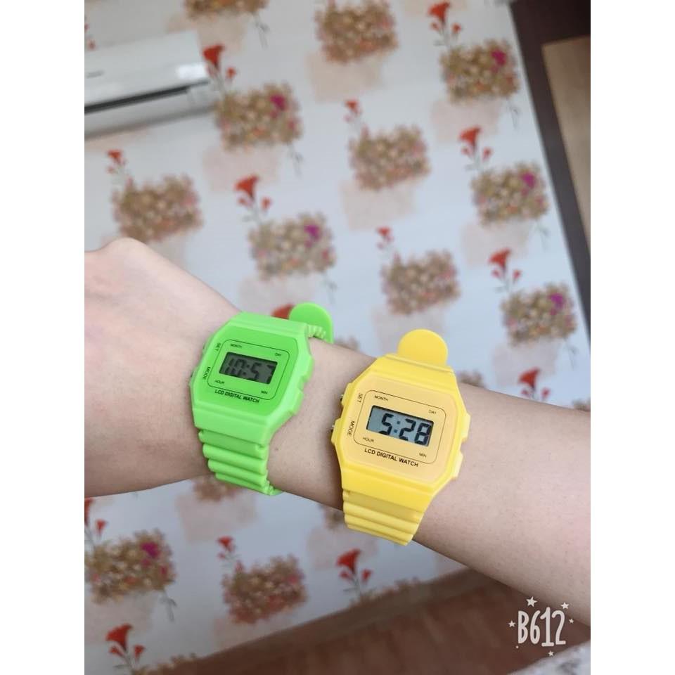 (Giá sỉ)Đồng hồ điện tử unisex dây nhựa CS02 phối theo đồ rất đẹp