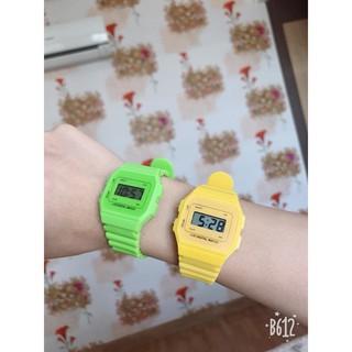 (Giá sỉ)Đồng hồ điện tử unisex dây nhựa CA004 phối theo đồ rất đẹp