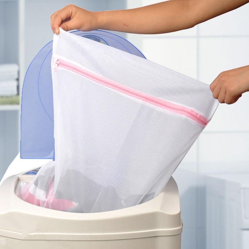 Combo 2 túi lưới giặt đồ tiện lợi cho máy giặt