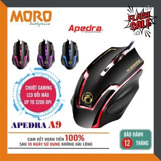 Chuột máy tính có dây chuyên game Apedra A9 – Led đổi màu cực đẹp – độ nhạy lên tới 3200 DPI