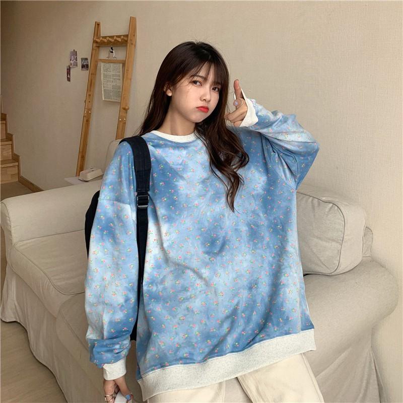 Áo Hoodie xanh loang trời xanh mây trắng hàng Quảng Châu | Shopee Việt Nam