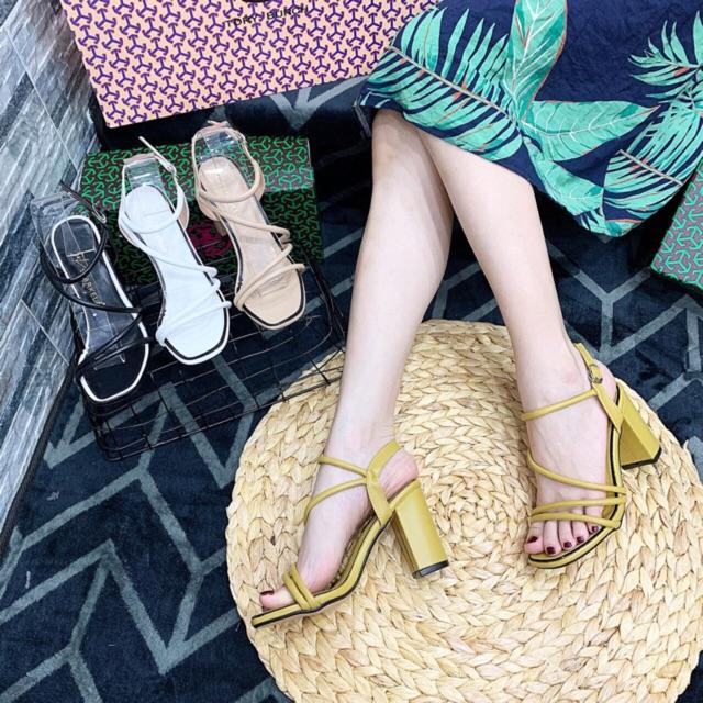 Sandal da mềm 4 dây xéo eo khoá gài 7p