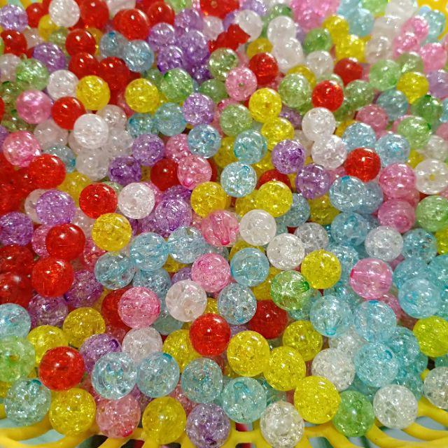 50gr hạt nhựa giả đá bọt tuyết 10mm (Tầm 90 hạt)