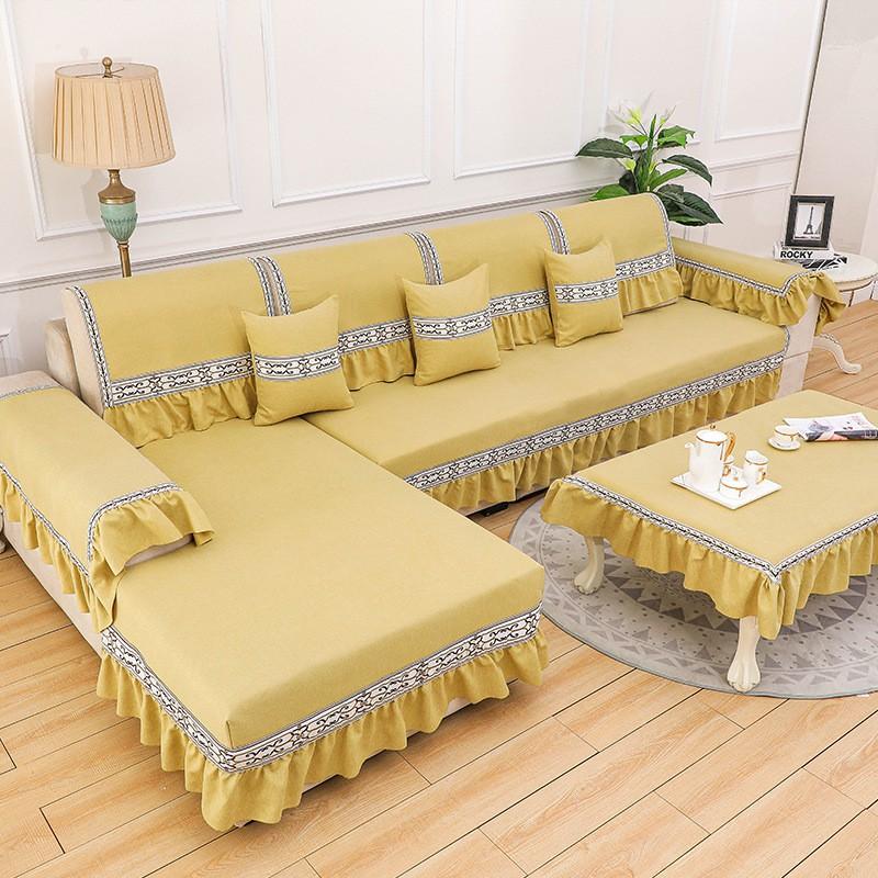 New Chinese Chenille sofa cushion cover towel four seasons universal Nordic modern minimalist leather fabric cushion anti-skid
