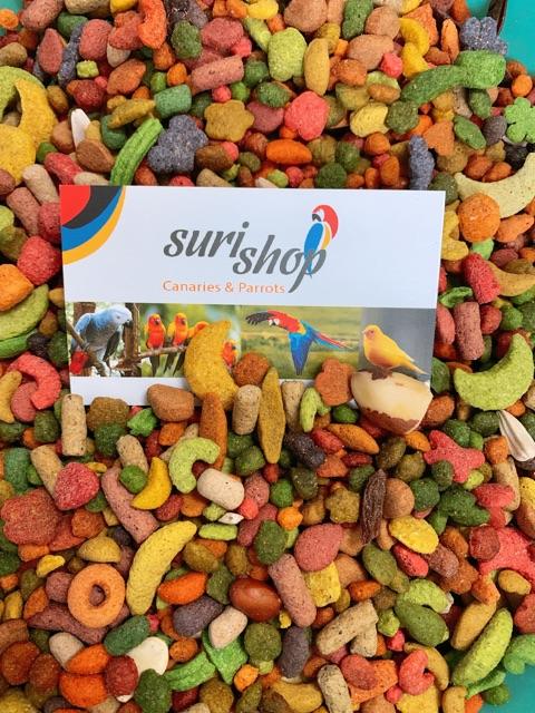 [Mã 267FMCGSALE giảm 8% đơn 500K] Hạt trái cây dành cho vẹt tập ăn