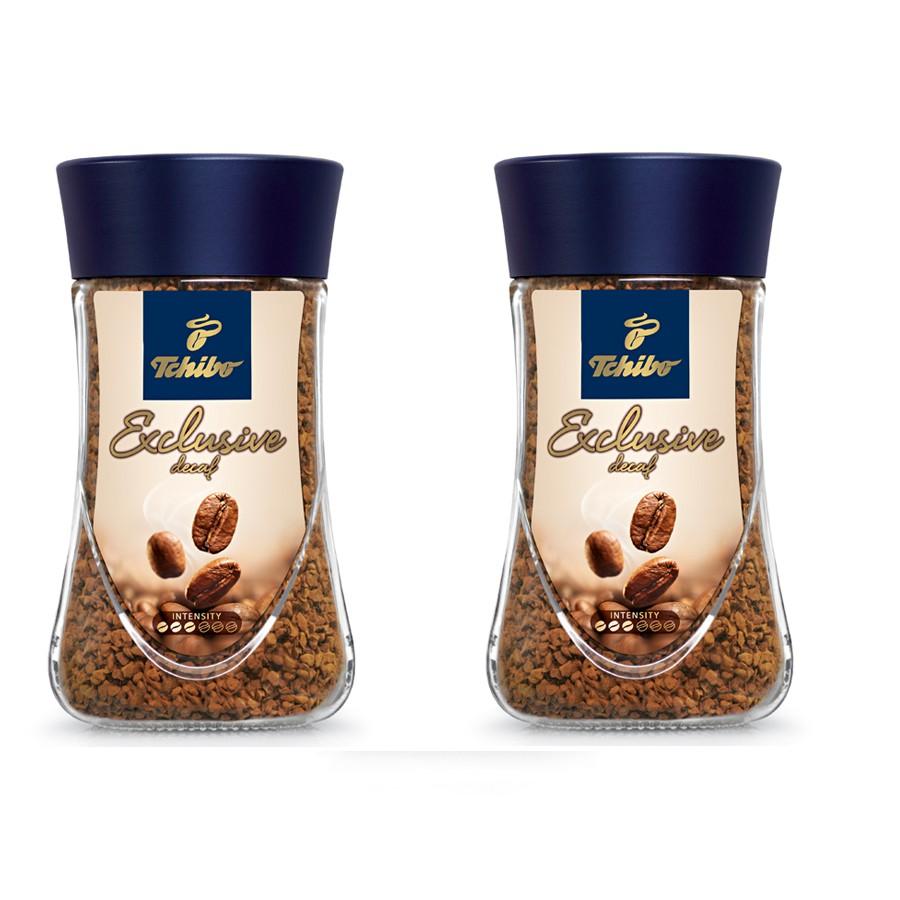Combo 2 lọ Cà phê hòa tan tách caffeine Tchibo Exclusive Decaf  - 100g