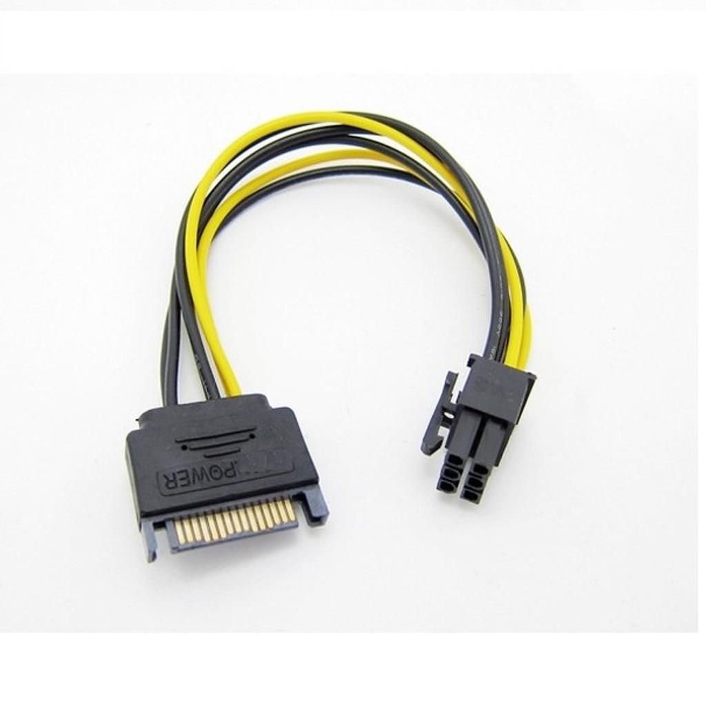 Cáp nguồn ổ cứng sang cáp nguồn VGA 6 pin Giá chỉ 15.000₫