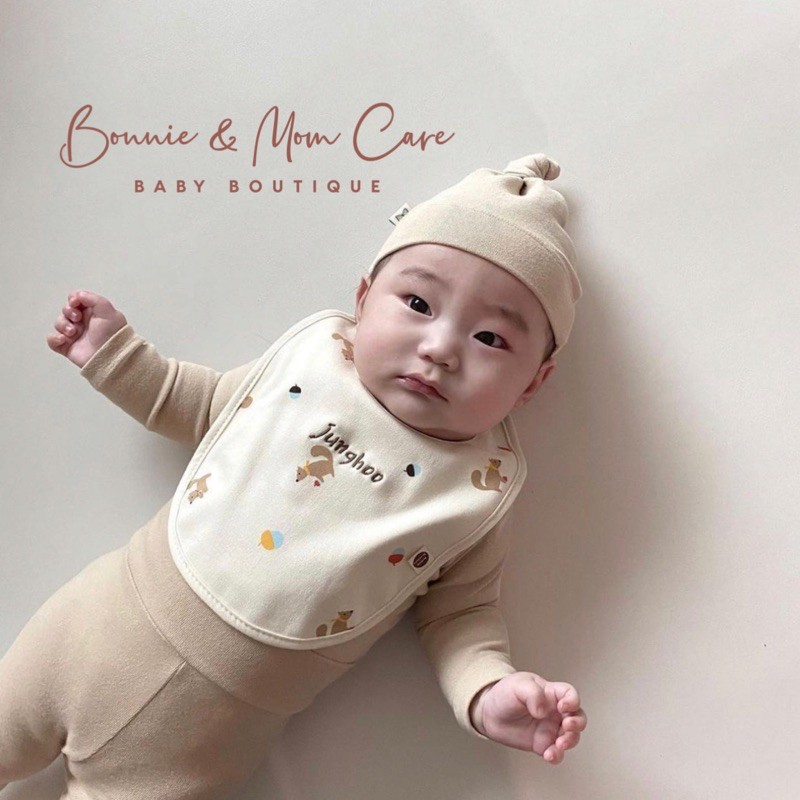 [ĐỦ MÀU] Yếm cổ hoa Hàn Quốc Vella Bunnie Blossom cho bé từ 0-36m+, thời trang, ăn dặm.