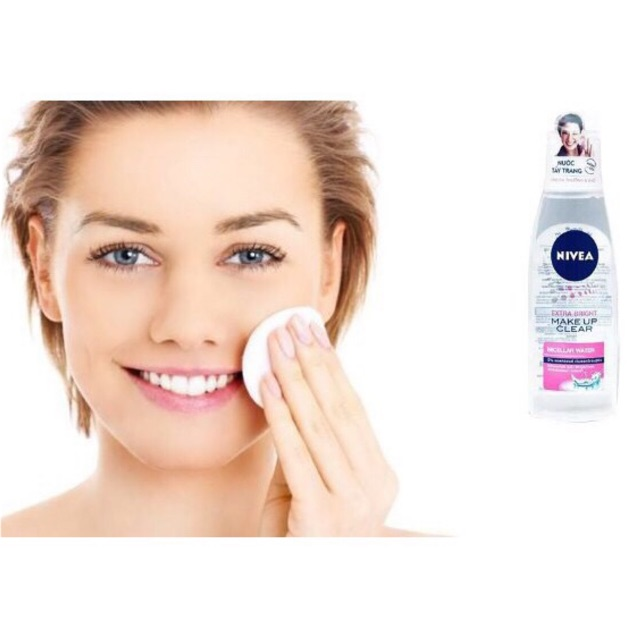 🌹Nivea Extra Bright Makeup Clear nước tẩy trang 125ml