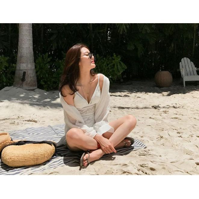 Hình ảnh Bikini áo tắm ( GIÁ RẺ ) Bikini liền sexy thời trang đi biển mùa hè hở lưng tôn dáng gợi cảm Đe 5 –R-6