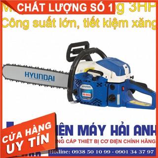 Máy cưa xích cầm tay chạy xăng Hyundai HD-8050 3HP - Cưa máy mini cầm tay cắt xẻ thân cây gỗ lớn dễ dàng