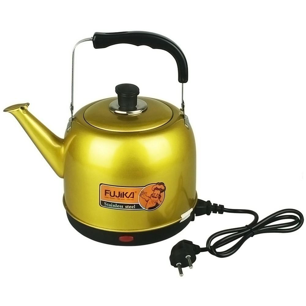 Ấm Điện Đun Nước Siêu Tốc Fujika - thân ấm inox phun sơn tĩnh điện chịu nhiệt, bảo hành 12 tháng