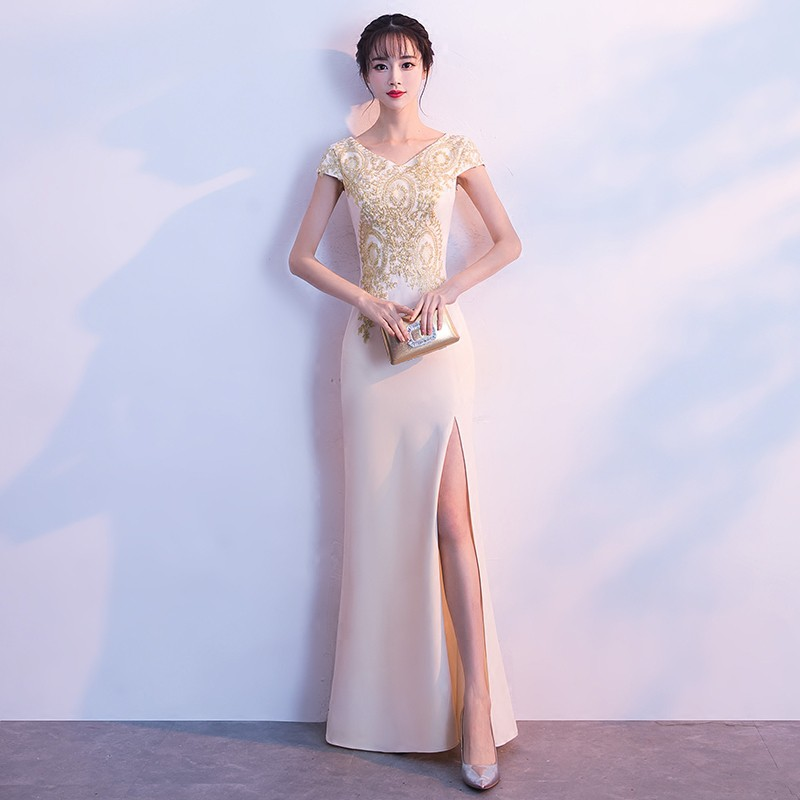 Elegant long dress Korean style