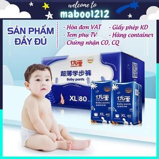 Bỉm YOULI XANH dán/quần đủ Size S108/M92/M88/L84/XL80/XXL72/XXXL68