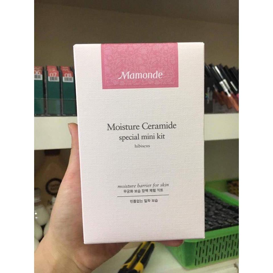 Kết quả hình ảnh cho bộ kit mamonde Moisture Ceramide Special mini kit 5 món