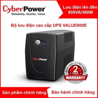 Bộ lưu điện UPS chất lượng cao VALUE600E CyberPower 600VA 360W - Chính hãng thumbnail