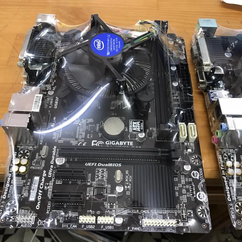 [Nhập ELCLMAY hoàn 30K xu đơn từ 200K]COmbo main Giga H81+Chip i3 4150+Ram 4g buz 1600+fan zin Giá chỉ 2.550.000₫