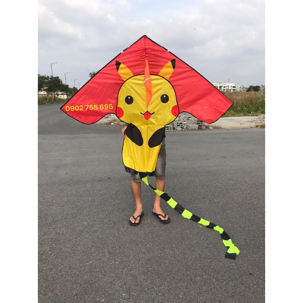 [MUA 1 ĐƯỢC 2] Diều Pikachu – TẶNG TAY CẦM THẢ DIỀU DÀI 150 mét dây + TÚI VẢI ĐỰNG DIỀU NHÀ MAY