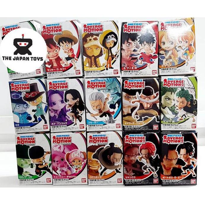 Mô hình tĩnh One Piece Adverge Motion STAMPEDE Set 1 Chính hãng