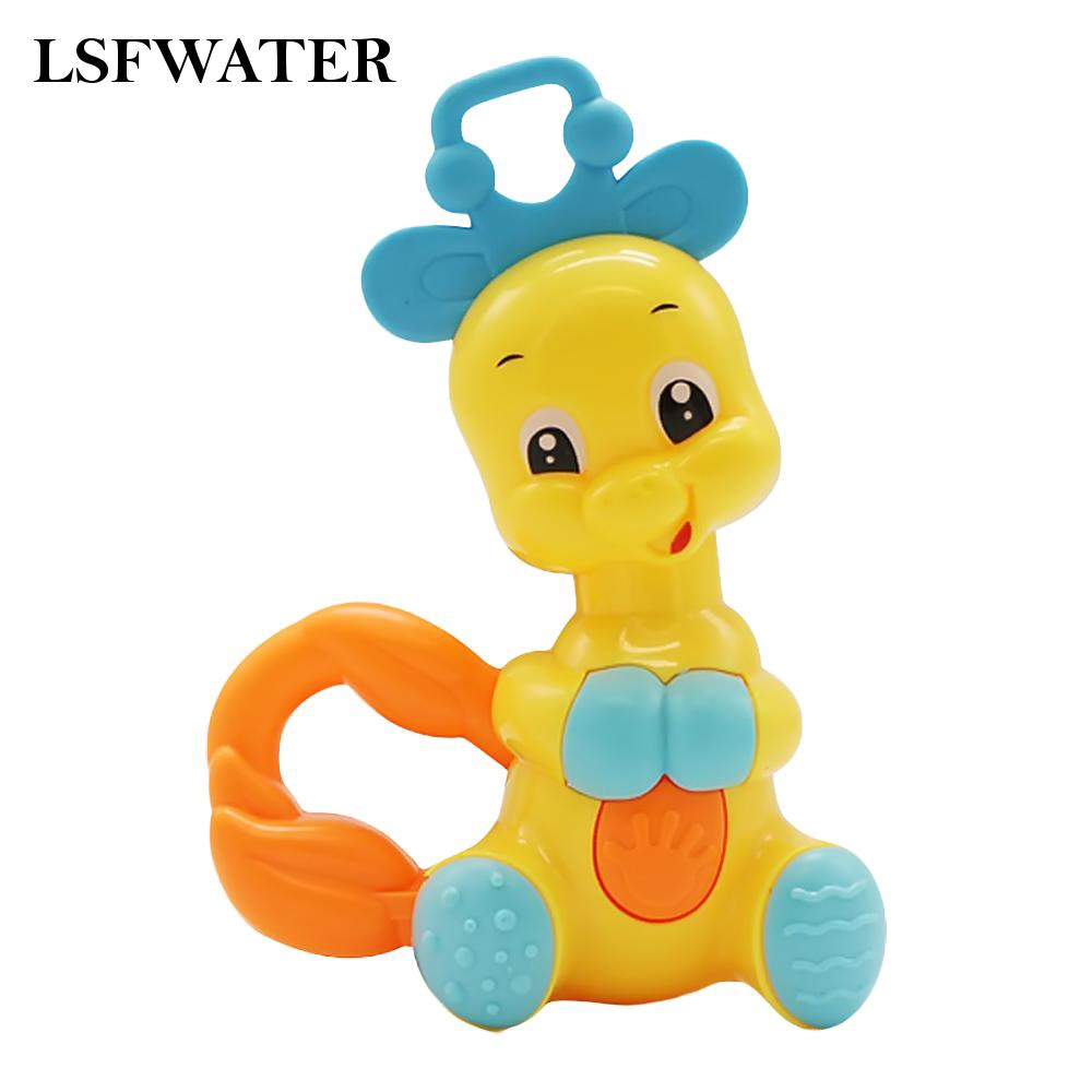 Shaking Rattles Bell Giraffe Baby Non-toxic