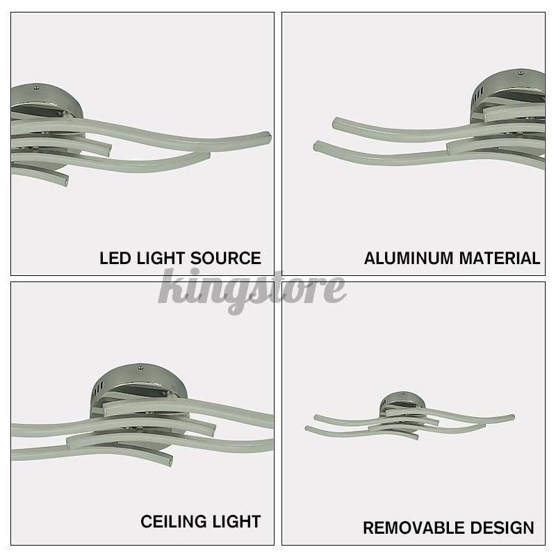 4 Light LED Ceiling Lights Acrylic Kitchen Living Bedroom Pendant Modern Lamps