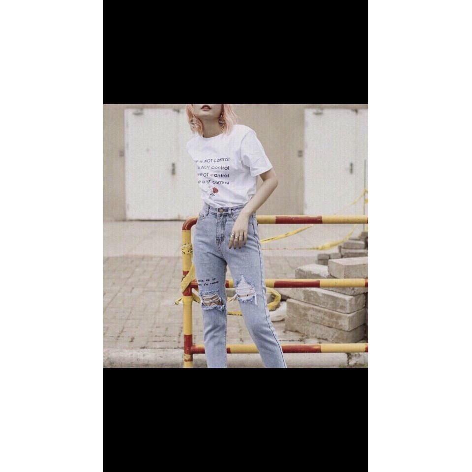 Quần Jeans Nữ Rách Cao Cấp OHS3051