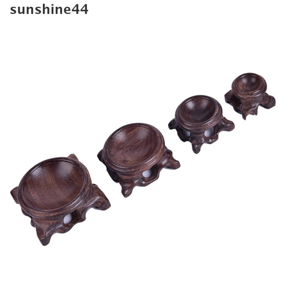 sunshine44 Black Crystal Ball Holder Wood Display Stand Base For Crystal Ball Home Decor .