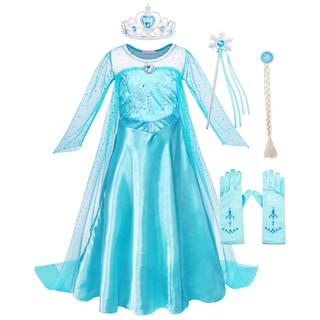 Công chúa Elsa ăn mặc trang phục trẻ em ưa thích váy công chúa váy bé gái sinh nhật váy