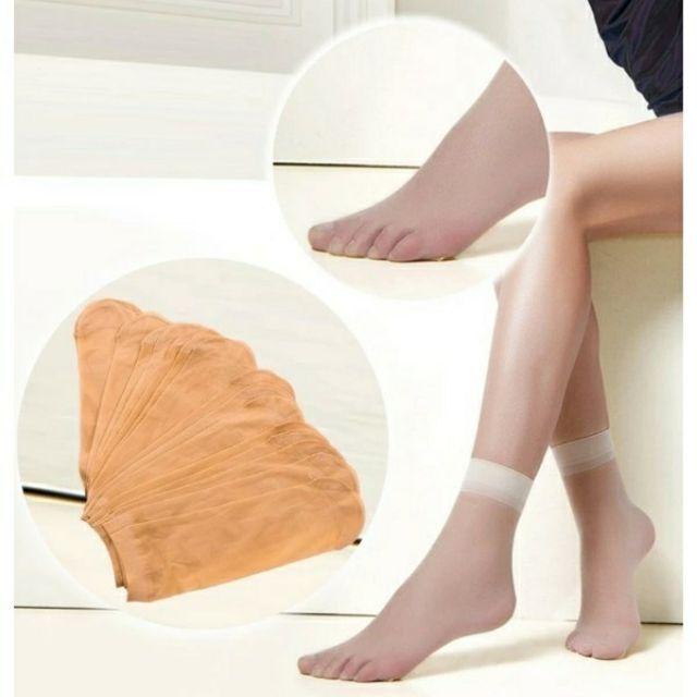 Sỉ 10 đôi tất da chân mỏng