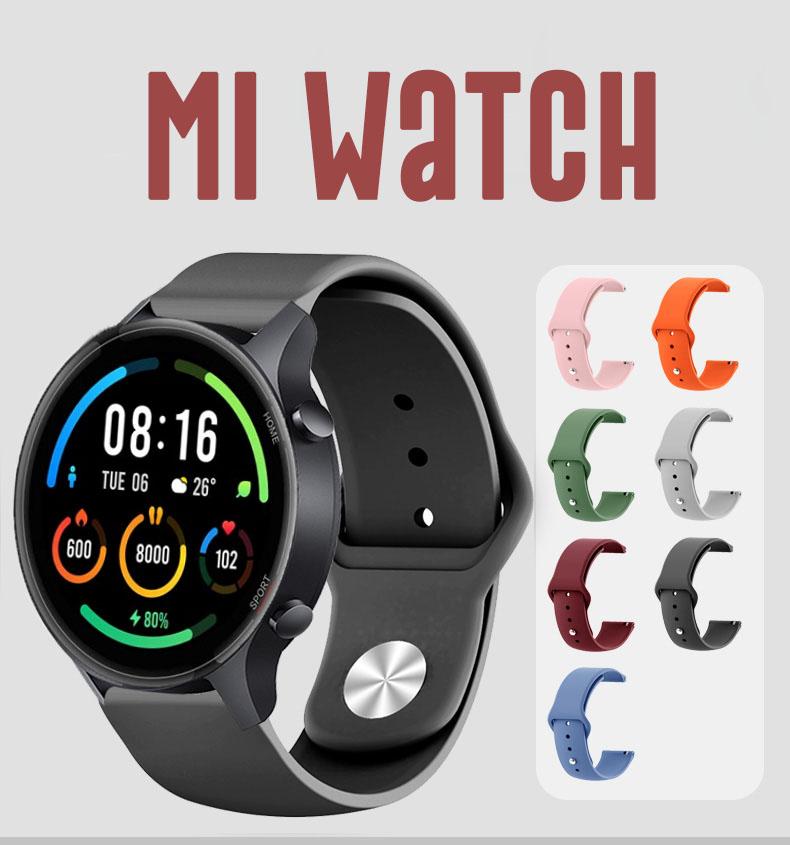 Xiaomi Mi Watch Dây Đeo Thay Thế Màu Trơn Cho Đồng Hồ Thông Minh Xiaomi Miwatch strap