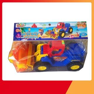 (Mẫu_Hot)Xe ủi đất đồ chơi chất lượng tốt cho trẻ em chứa đồ chơi biển