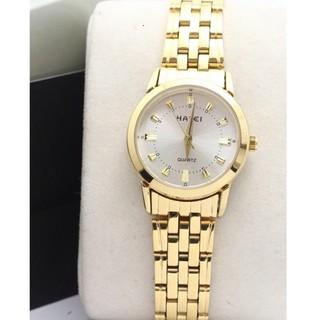 (SALE SỐC) Đồng hồ nữ Halei mặt trắng dây vàng chống nước