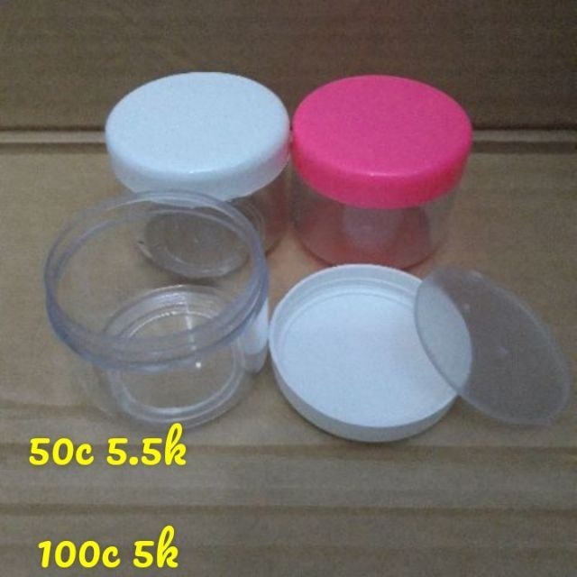 Hủ nhựa trong đựng kem 100g - hu dung kem - chai lo my pham - hu dung my pham