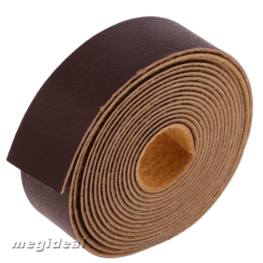10 Meters x 2cm DIY Leather Strap Strip for Leather Craft Belt Bag Accessories